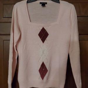 New York & Company Argyle Sweater sz Medium